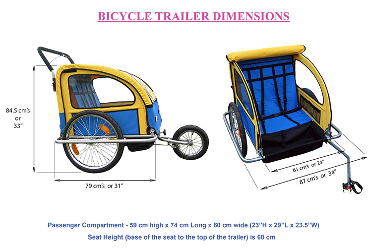 Children's Bicycle Trailer Dimensions