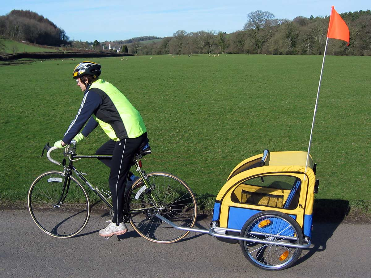 Bicycle-Trailer-and-Flag